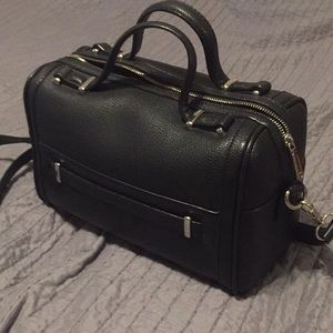 Faux leather crossbody and handle purse
